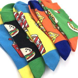 Hippe Sokken - Box Set - Fastfood - detail sokken