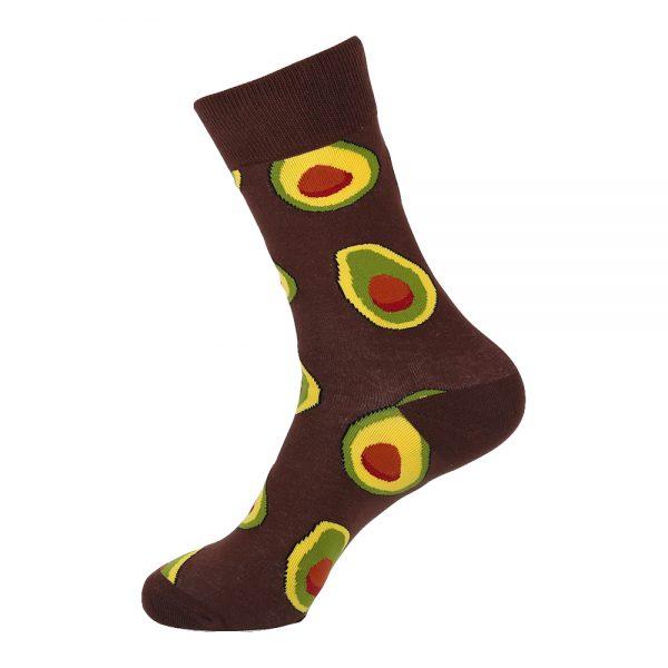 hippe sokken - avocado brown - B166