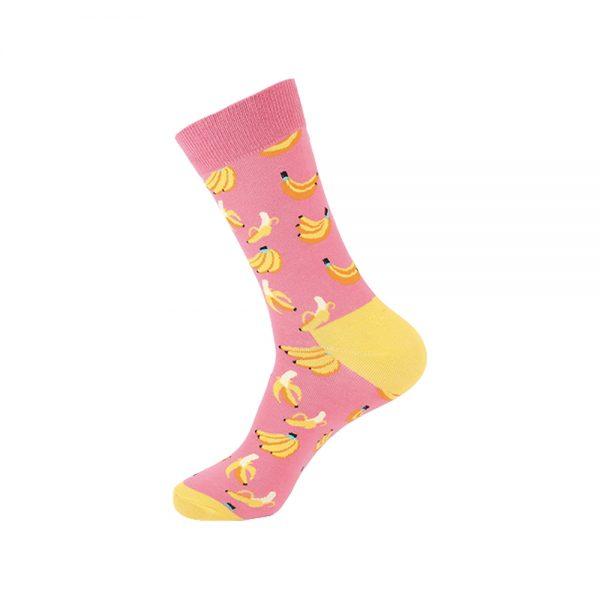 hippe sokken - bananas pink