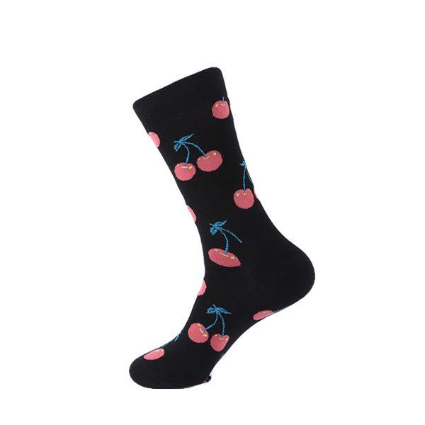 hippe sokken - cherry black - B33