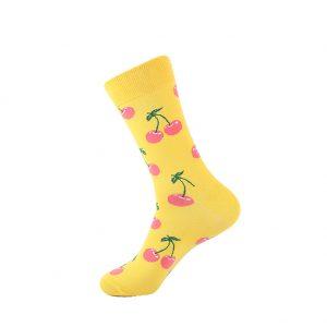 hippe sokken - cherry yellow - B36