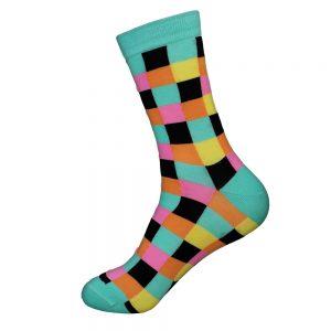 hippe sokken - colors green - A15