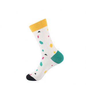 hippe sokken - dots white - B90