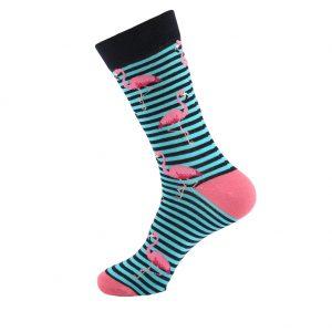 hippe sokken - flamingo stripes - H85