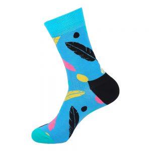 hippe sokken - leaves blue - B171