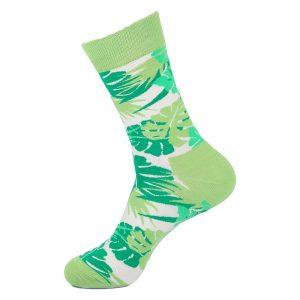 hippe sokken - leaves green - B168