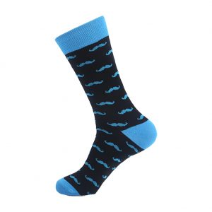 hippe sokken - moustache bleu - H23