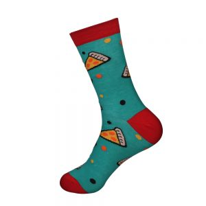 hippe sokken - pizza - A7