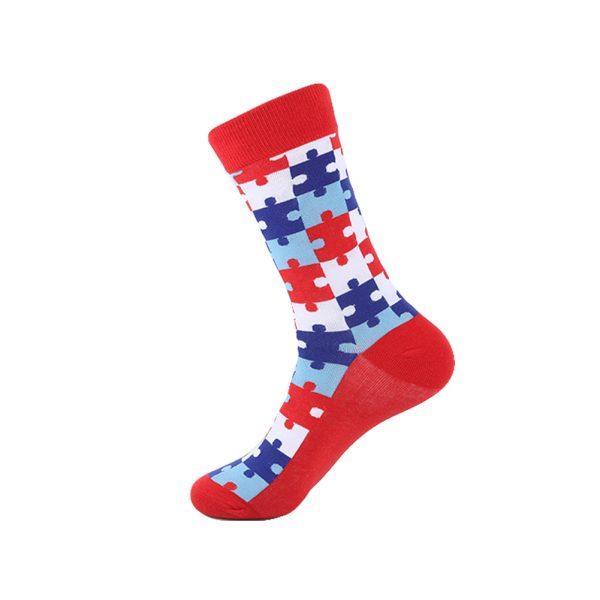 hippe sokken - puzzle pieces - B97