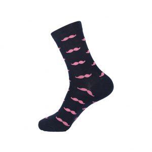 hippe sokken - snorre roze - A45