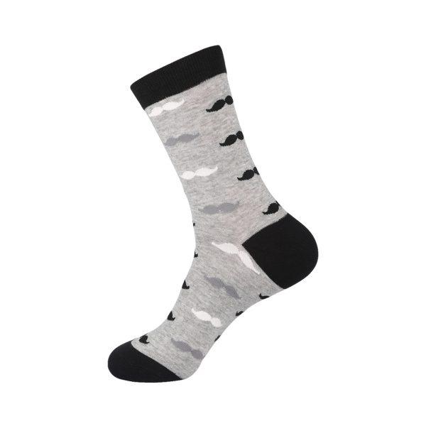hippe sokken - snorren grijs - A44