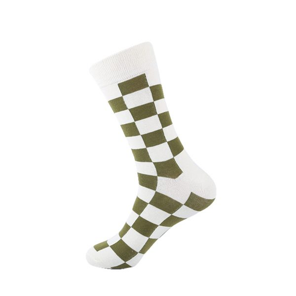 hippe sokken - squares white - B102
