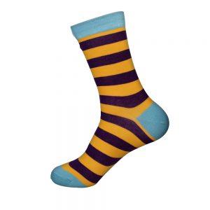 hippe sokken - yellow black stripes - A10