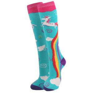 kniekousen - unicorn - rainbow - v6414